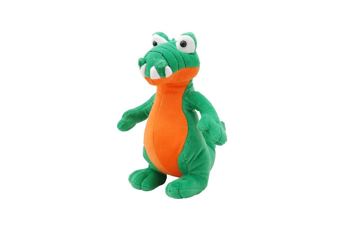 Green and Orange Dinosaur Plush Toy