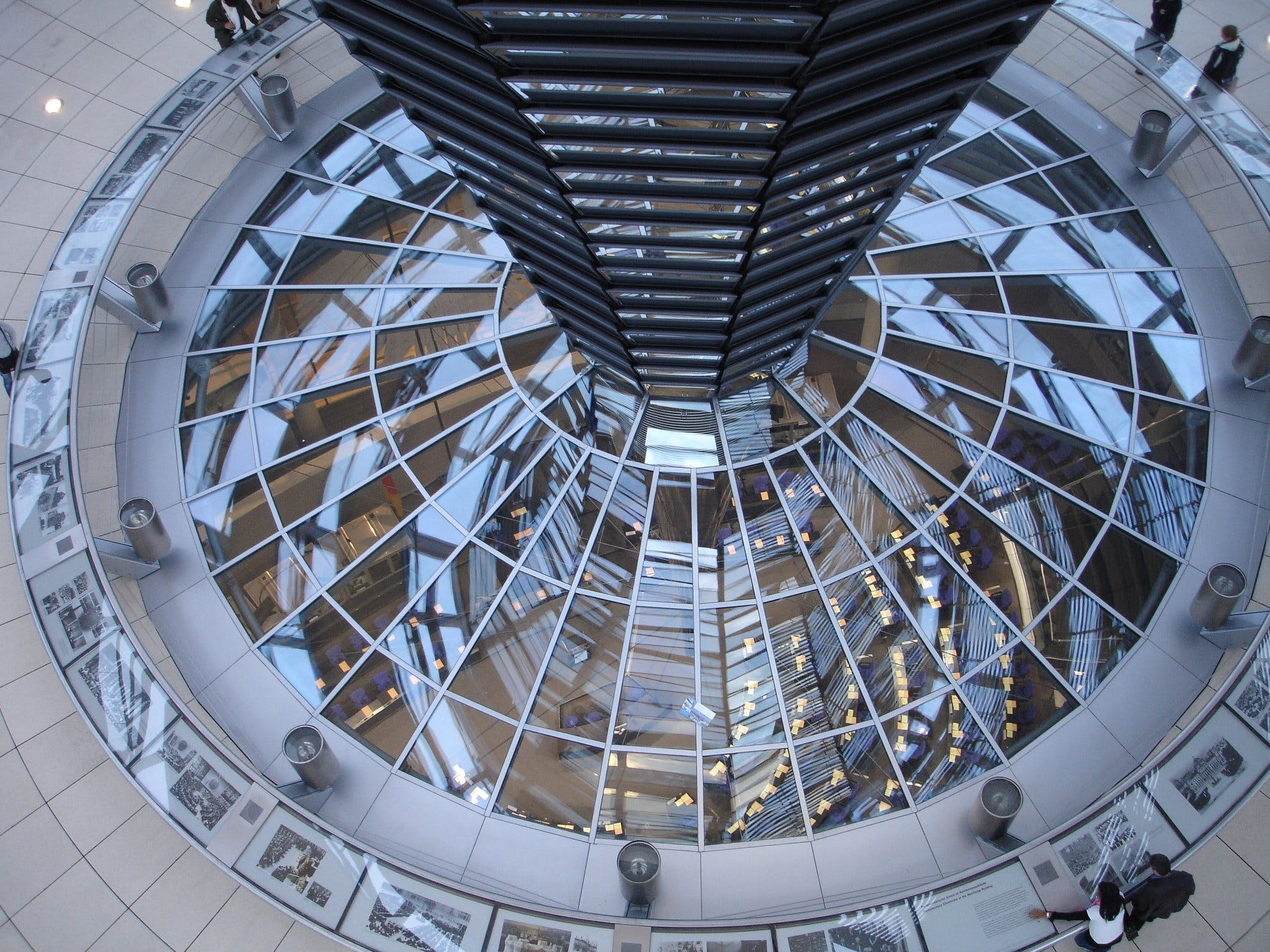 Clear Glass Dome Near People Standing on Aerial View Photography