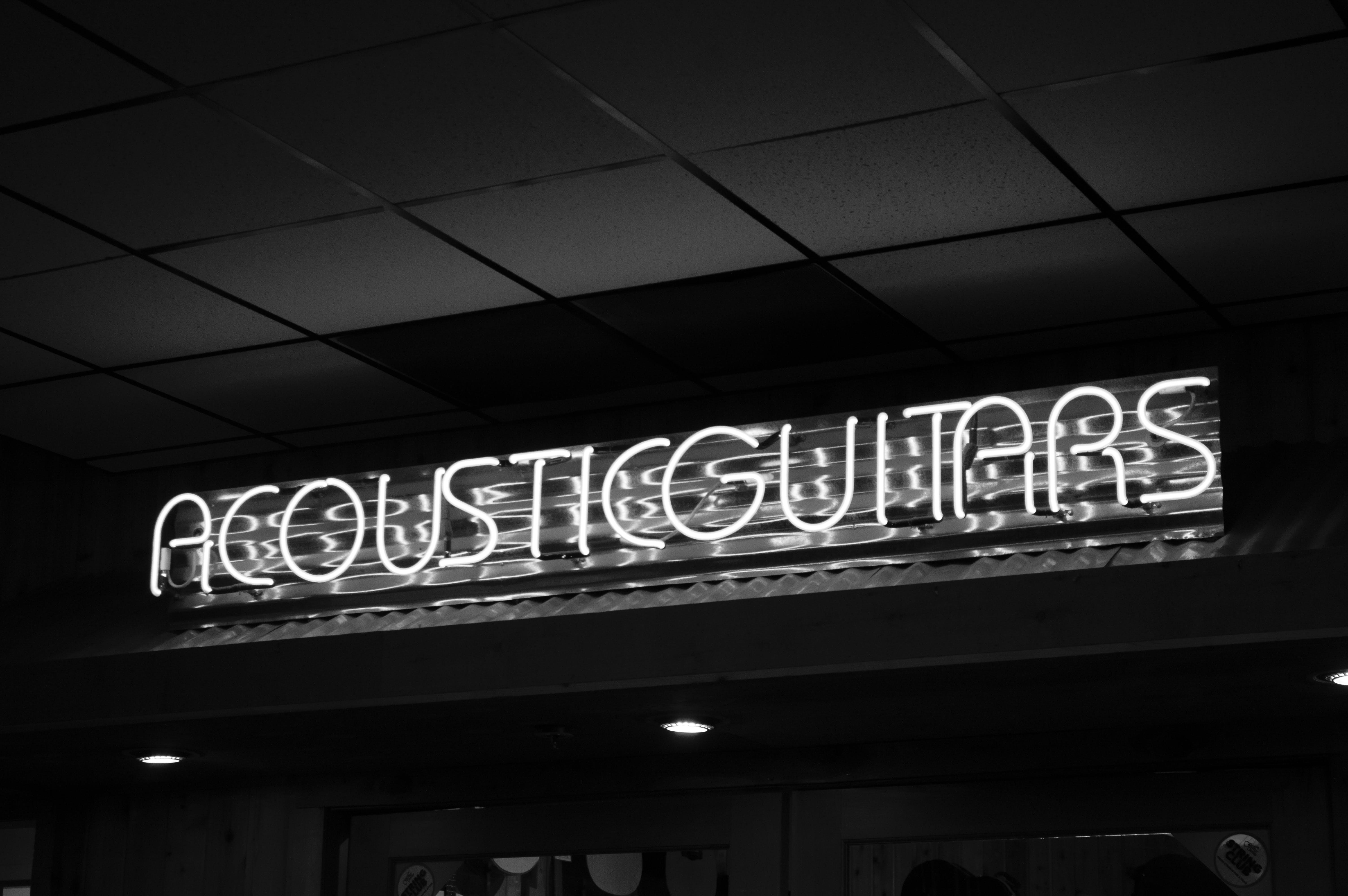 Free stock photo of acoustic guitar, center, guitar, light