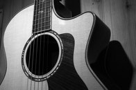 wood, black-and-white, music