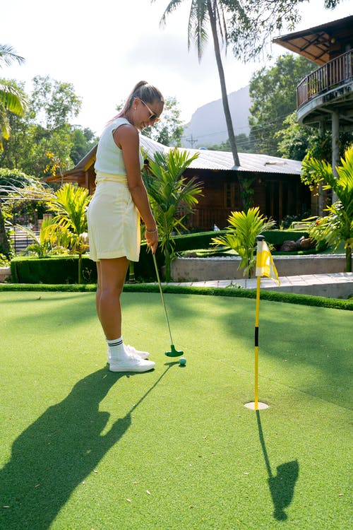 A Woman Playing Golf