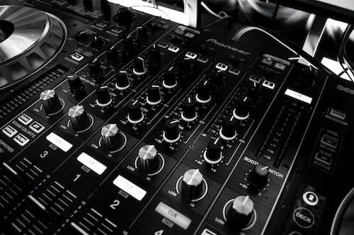 Foto profissional grátis de áudio, combinação, dj, liquidificador
