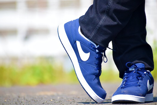 Blue Nike Low-top Shoes
