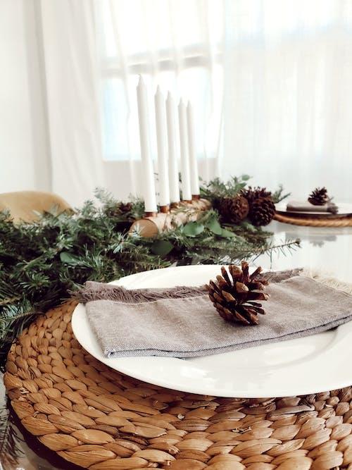Free stock photo of christmas, christmas decor, christmas dinner