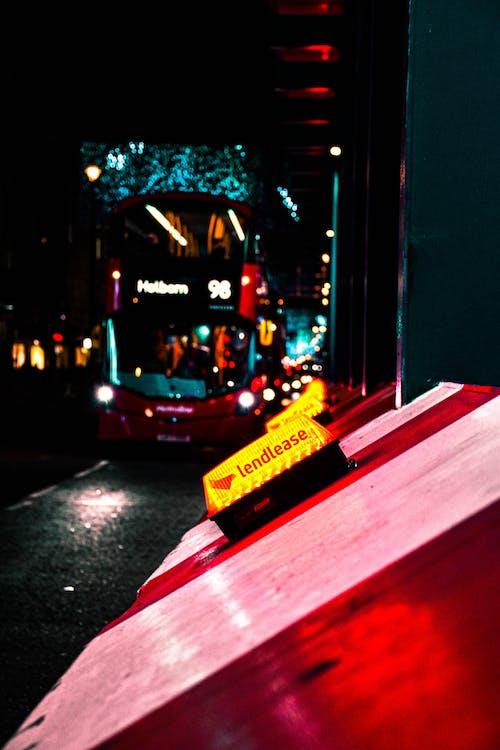 Free stock photo of bus, christmas ornament, lights