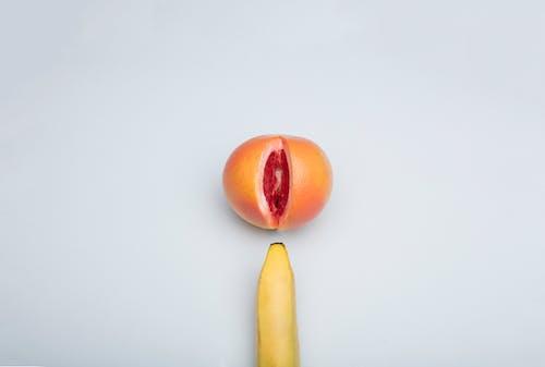 Yellow Banana Fruit and Orange Fruit