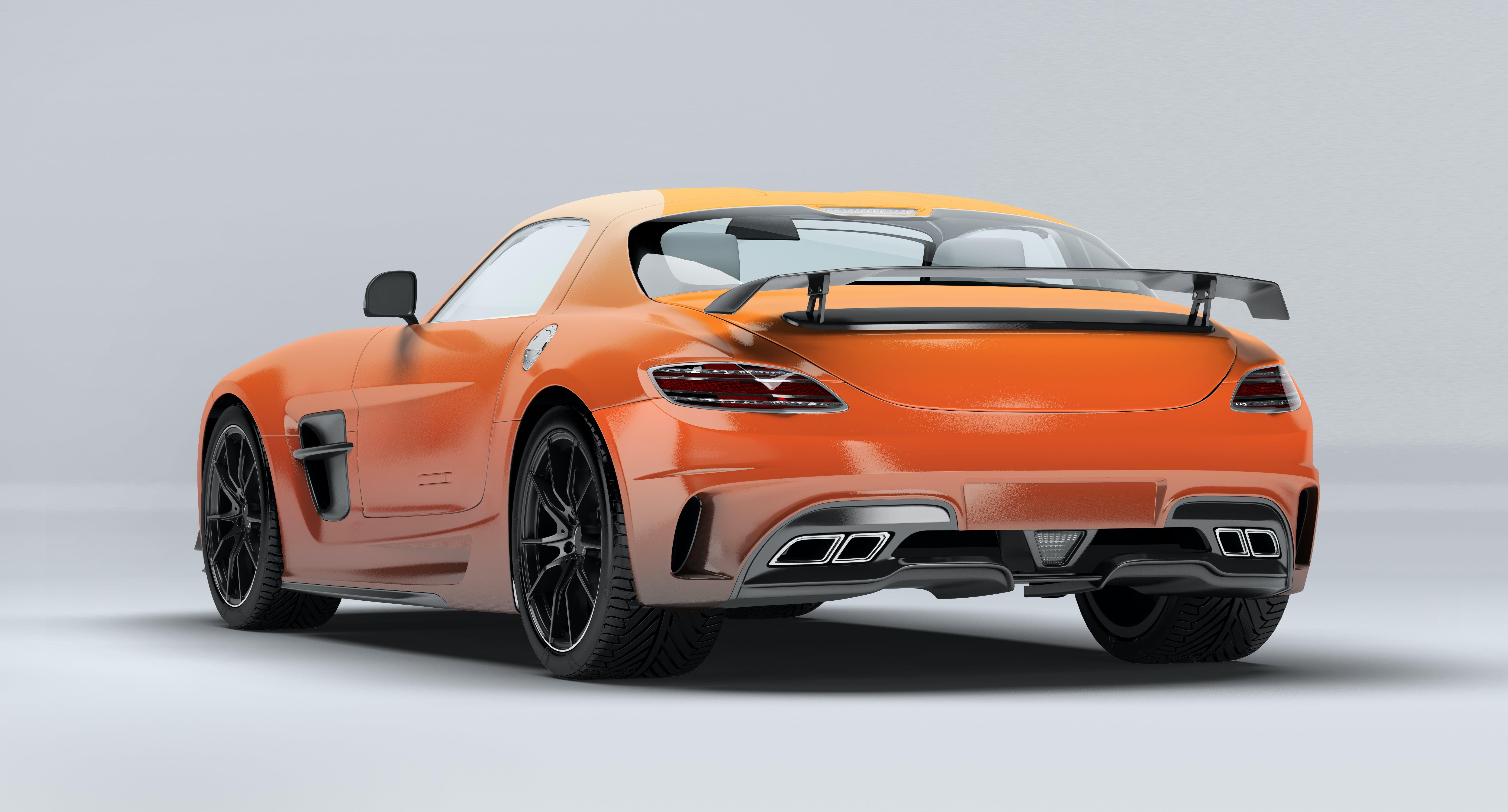 Free stock photo of car, cars, luxury car, Mercedes SLS AMG
