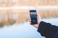 man, hand, smartphone