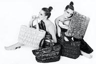 black-and-white, fashion, woman