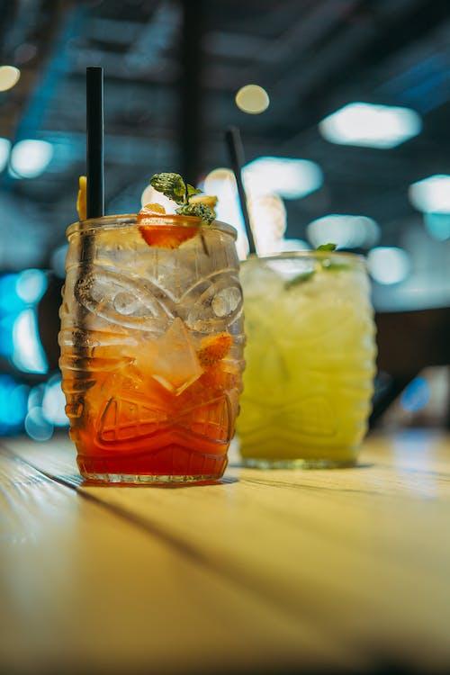Immagine gratuita di bevande, bicchiere, cannuccia