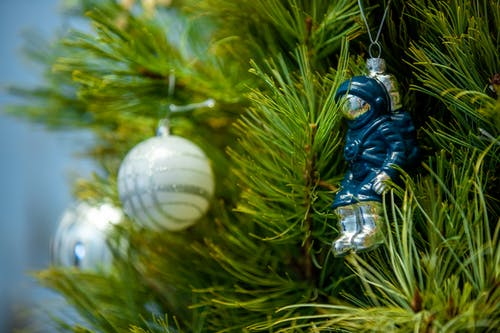 Close-Up Shot of a Christmas Decoration