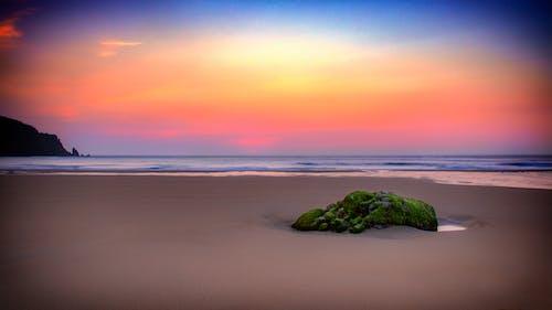 Foto stok gratis biru oranye, hijau, jersey, matahari terbenam
