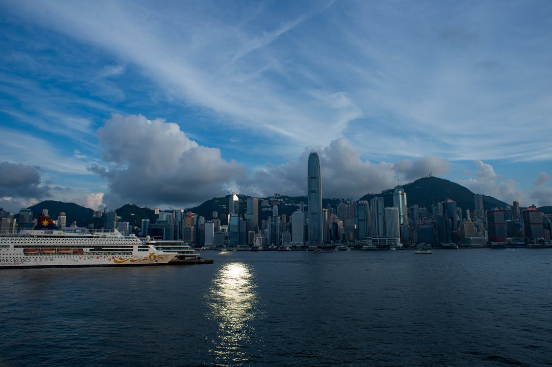 Free stock photo of blue sky, city, cloud