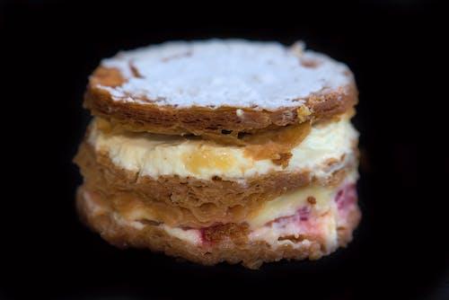 Gratis lagerfoto af cookie, cremebudding, kage lag, lagdelt kage