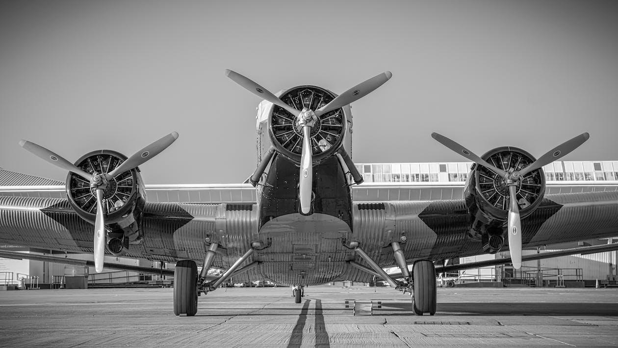 aviate, däck, flygplan