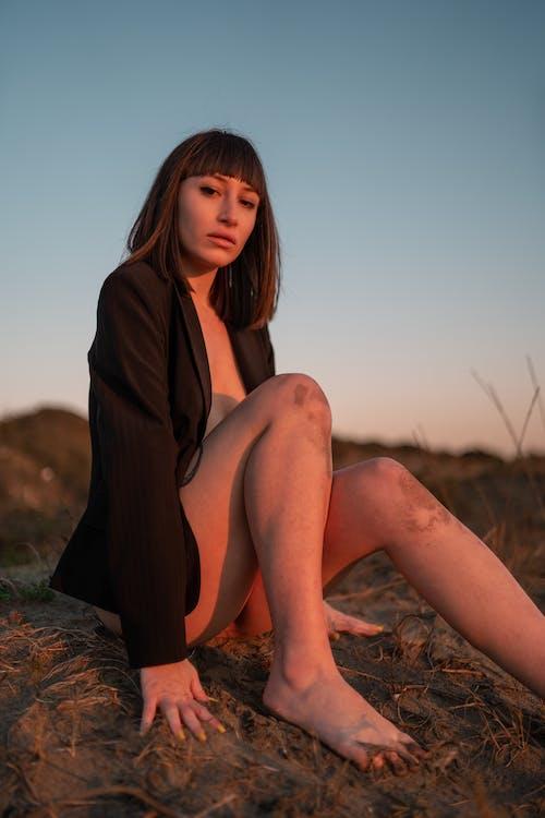 Free stock photo of beach, desert, fashion, girl