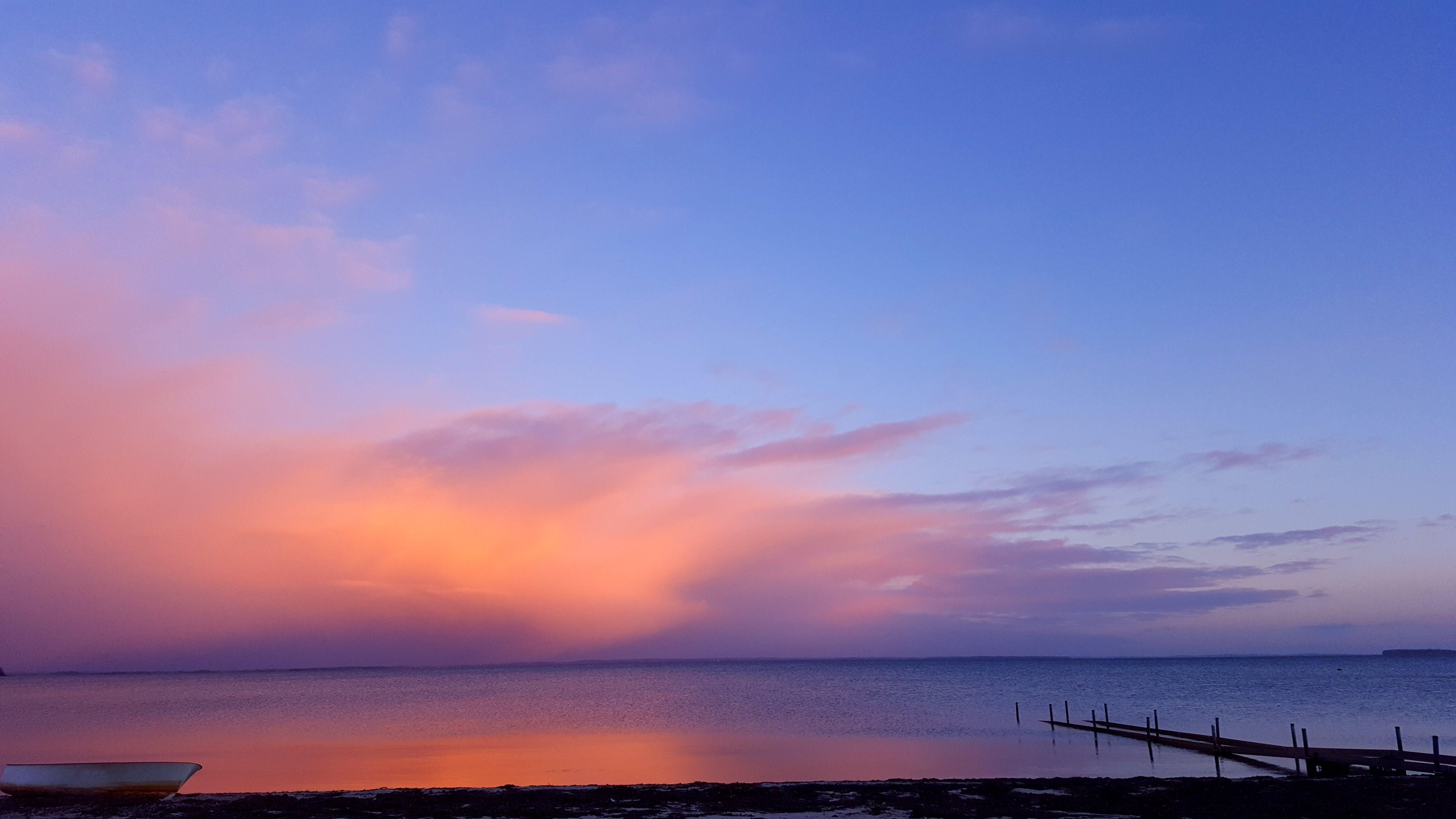 Body of Seawater during Sunset