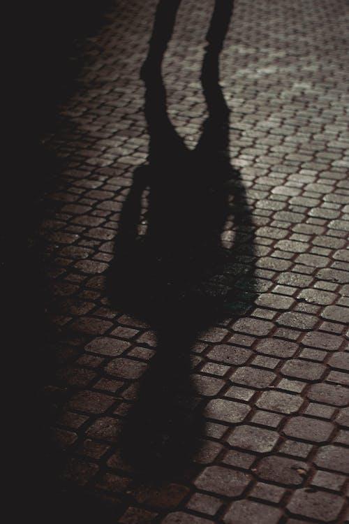Shadow of Person on Brick Floor