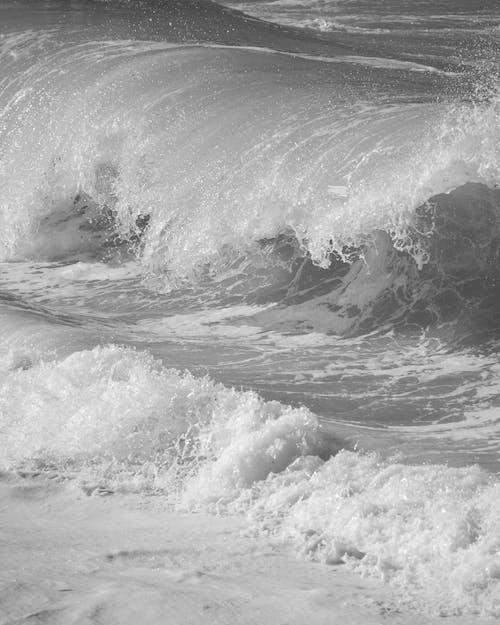 Free stock photo of beach, crash, foam