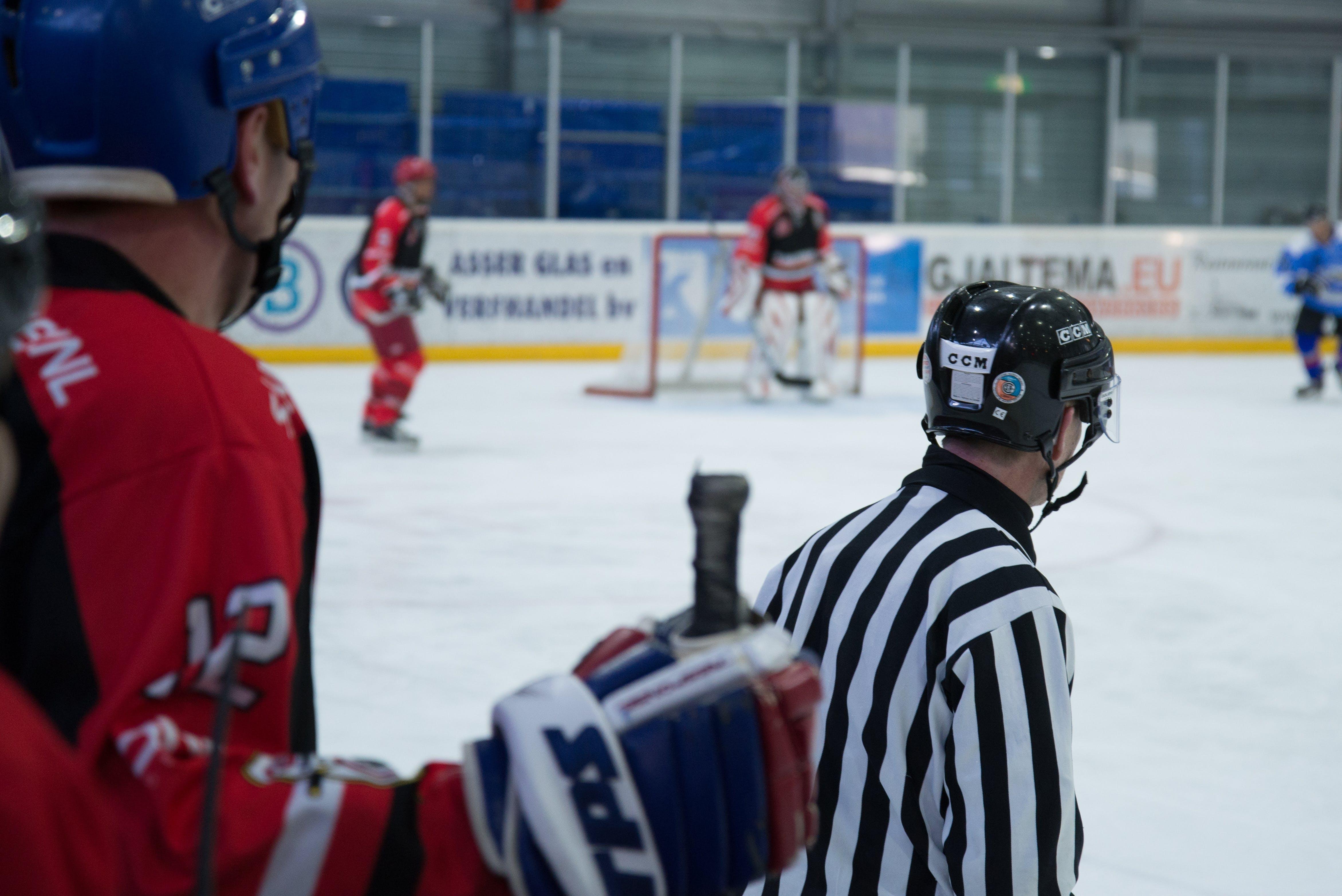 Hockey Players on Rink