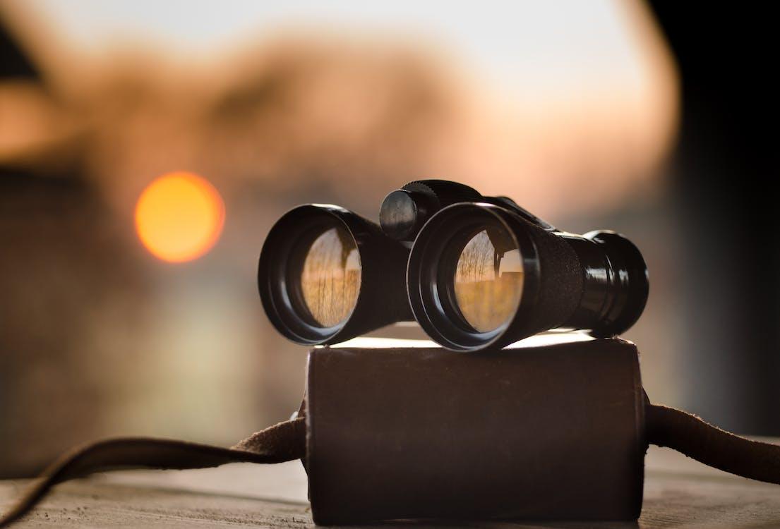 Foto profissional grátis de binóculos, borrão, busca