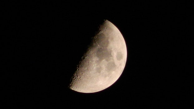Gray and Black Moon
