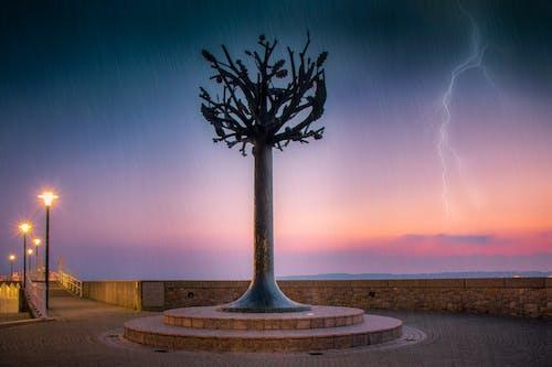 Fotobanka sbezplatnými fotkami na tému blesk, krajina, malebný, mraky