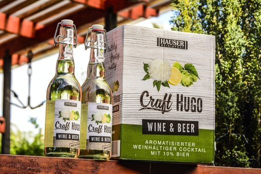 Two Craft Hugo Wine & Beer Bootles