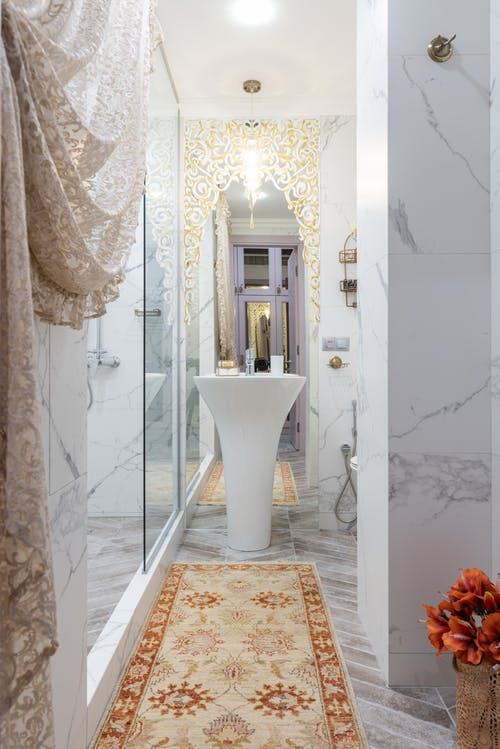Interior of bathroom with sink