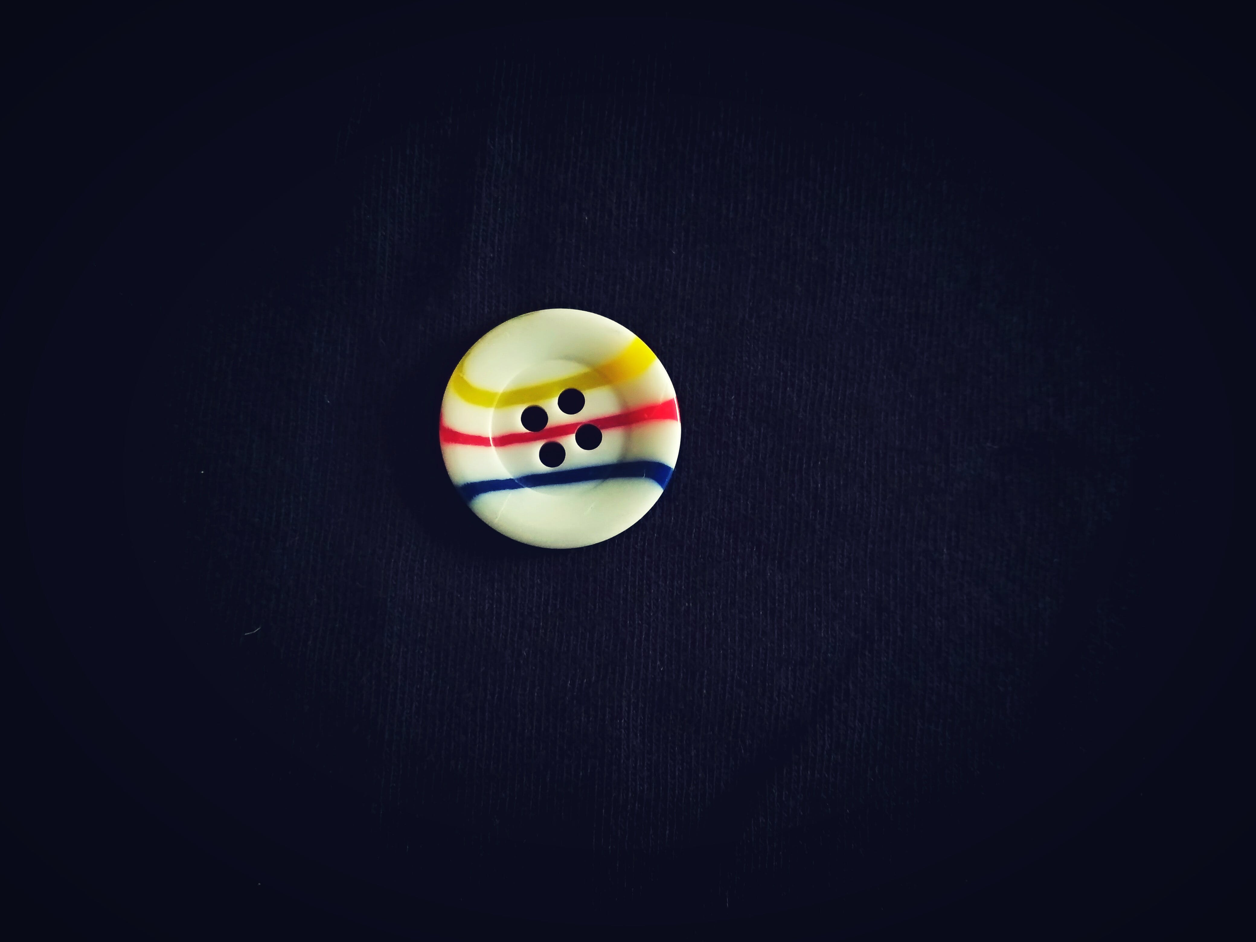 White Button Top View Photography