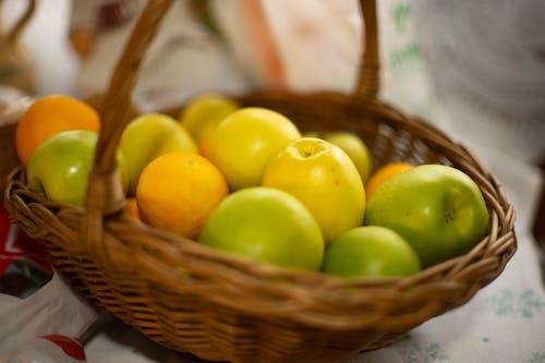 Free stock photo of apple, apples, basket
