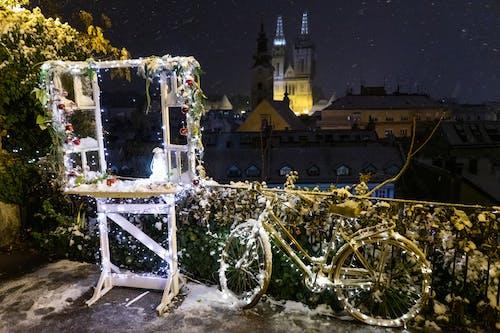 Free stock photo of bicycle, christmas, lights
