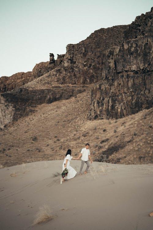 アダルト, おとこ, ビーチ, 丘の無料の写真素材