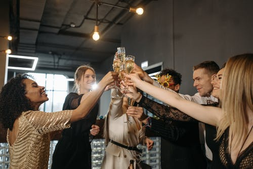 A Team Having a Celebration