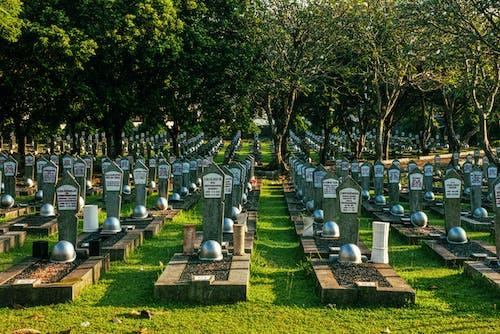 Gravestones on heroes cemetery in Kalibata