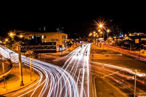Free stock photo of at night, bright lights, car lights