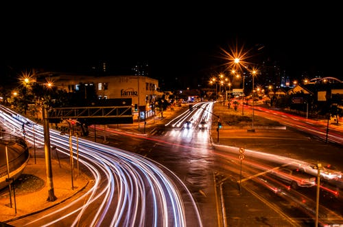 Free stock photo of at night, bright lights, car lights