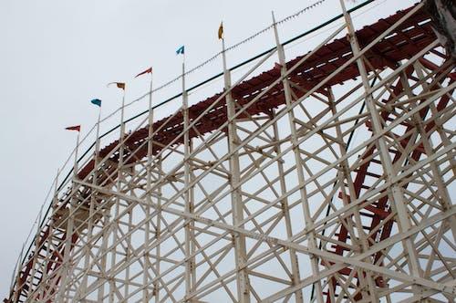 Free stock photo of amusement park, ride, roller coaster