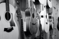 black-and-white, music, shop