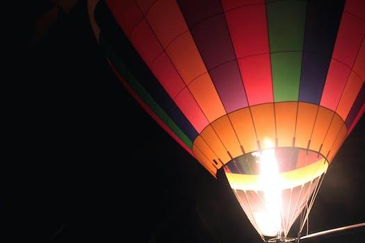Ballon at Night · Free Stock Photo