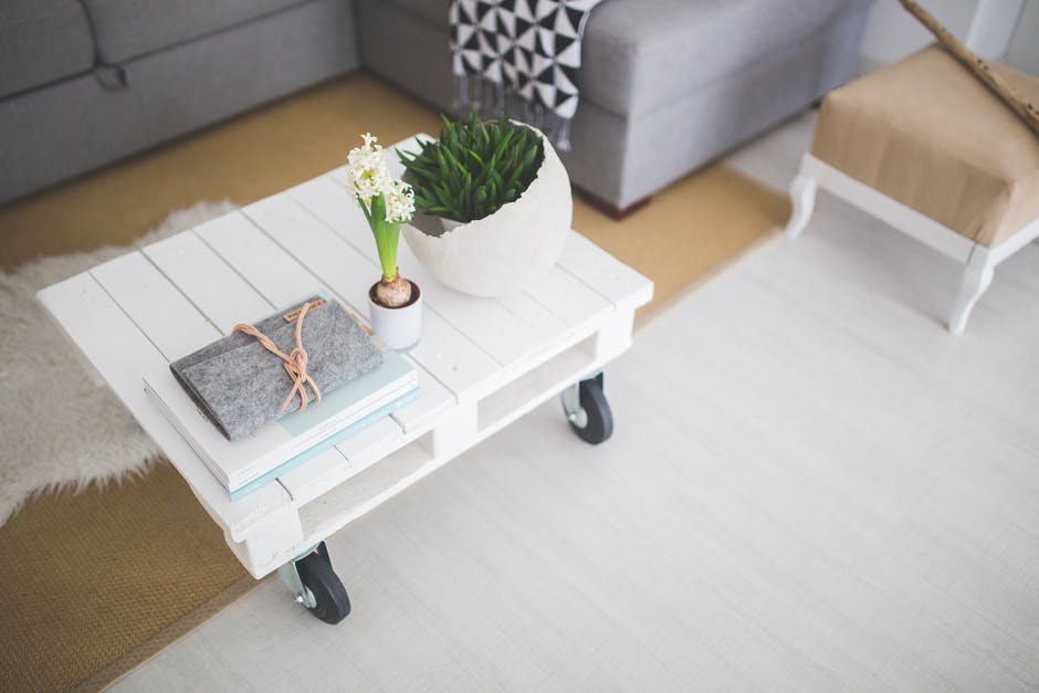 Little white coffee table