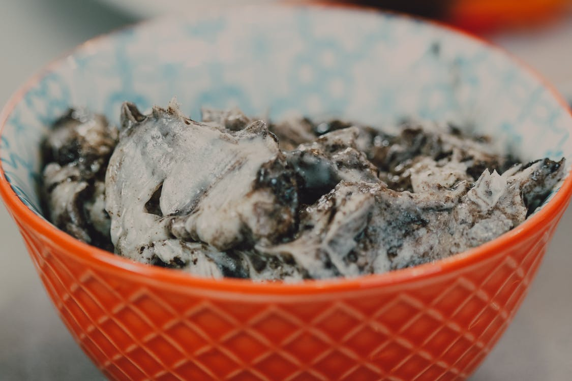 Close-Up Shot of an Ice Cream in a Bowl