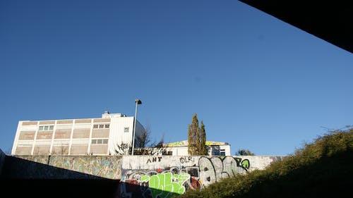 Free stock photo of blue, graffiti, sky