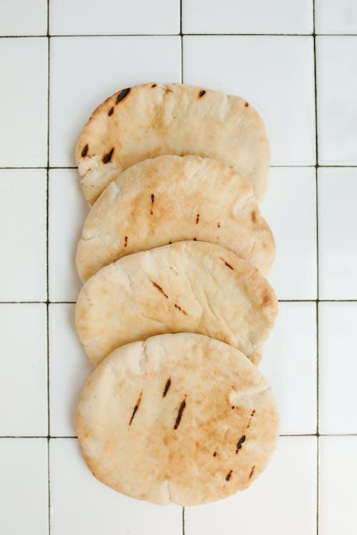 คลังภาพถ่ายฟรี ของ pita, กระเบื้องเซรามิก, การถ่ายภาพอาหาร