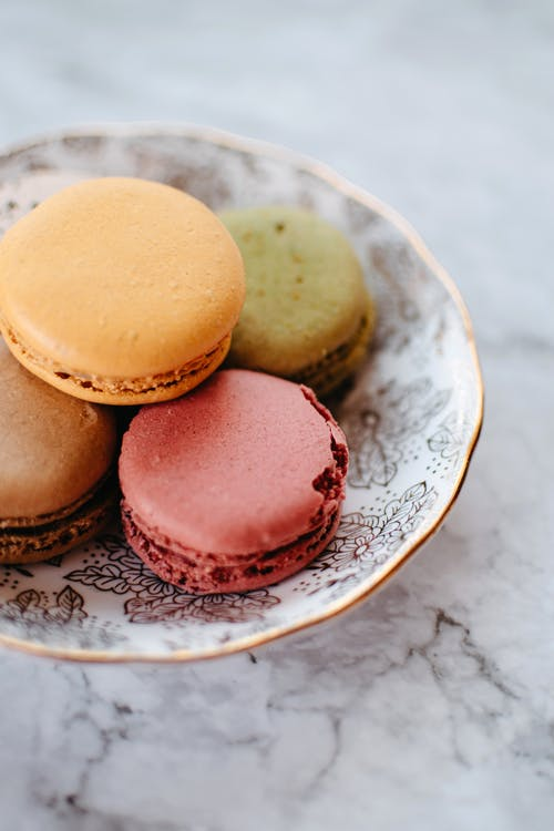 Assorted Macaroons on a Plate