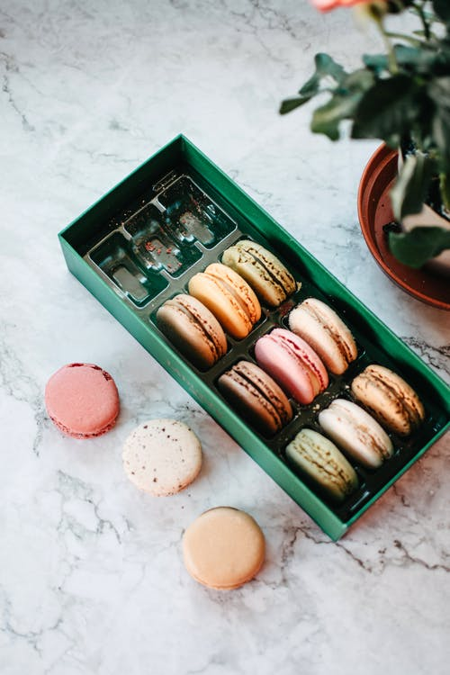 Baked Macaroon on a Tray