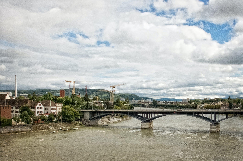 Suspension Bridge Connecting Town
