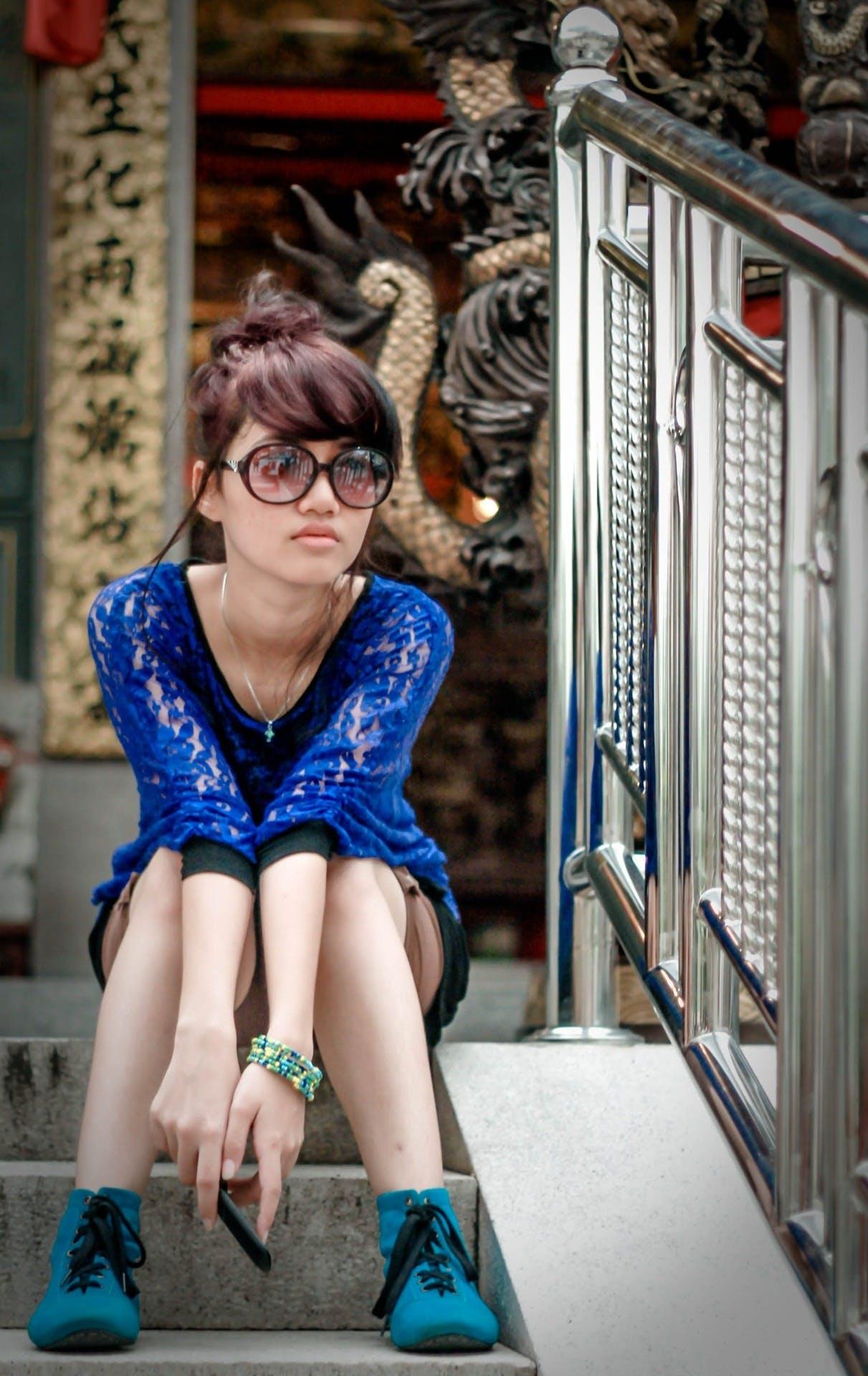Free stock photo of fashion, woman, blue, girls