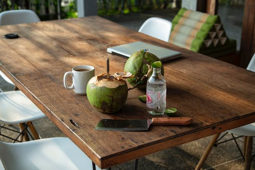 Free stock photo of breakfast, chair, coconut
