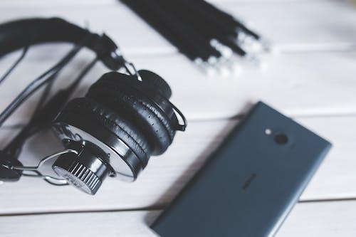 Gratis lagerfoto af close-up, Gadgets, hovedtelefoner, makro